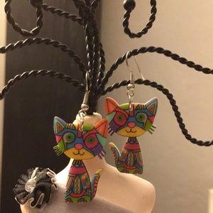 Jewelry - RAINBOW 🌈 KITTY 🐱 EARRINGS
